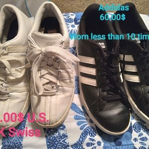 NEW 1 Pair Mens KSwiss & 1 pair of Womans Adidas